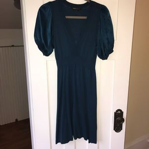 BCBG short sleeve dress in teal